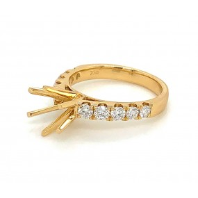 18kt Yellow Gold Diamond Semi Mount