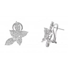 18kt White Gold Diamond Earrings