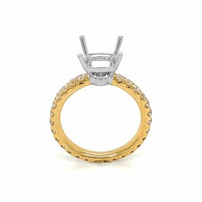 14kt White And Yellow Gold Diamond Semi-mount