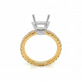 14kt White And Yellow Gold Diamond Semi-mount