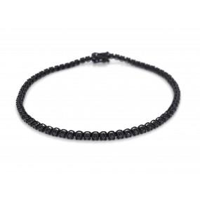 18kt Black Gold Black Diamond Bracelet
