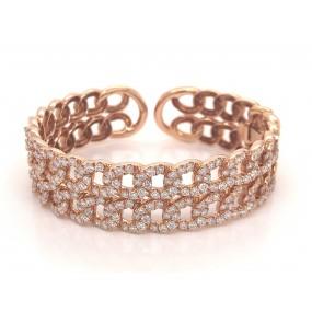 18kt Rose Gold Diamond Bangle