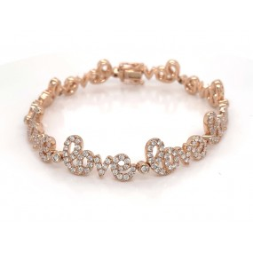 18kt Rose Gold Diamond Bracelet