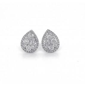 18kt White Gold Diamond Studs Earrings