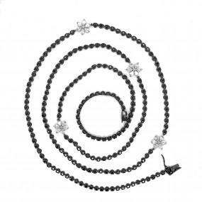 18kt Black Gold Black and White Diamond Necklace