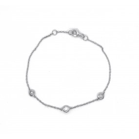 18kt White Gold Diamond By The Inch Bracelet