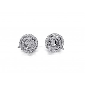 18kt White Gold Diamond Earring Jackets