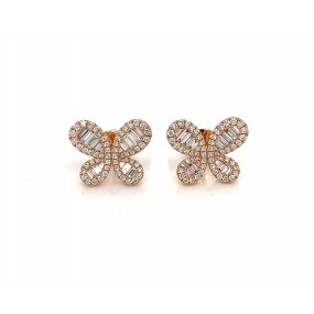 18kt Rose Gold Diamond Earrings