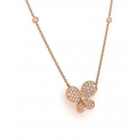 18kt Rose Gold Diamond Necklace