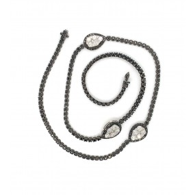 18kt Black And White Gold Diamond Necklace