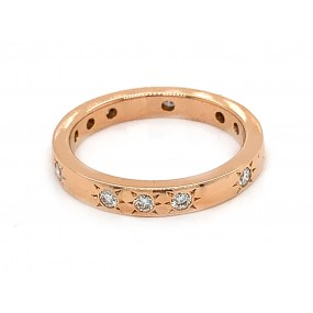 18kt Rose Gold Diamond Band