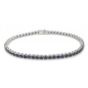 18kt White Gold Sapphire Bracelet