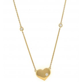 18kt Yellow Gold Diamond By The Inch Necklace