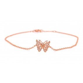 14kt Rose Gold Diamond Bracelet