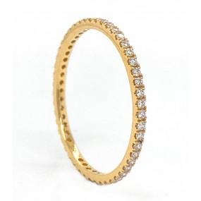18kt Yellow Gold Diamond Band