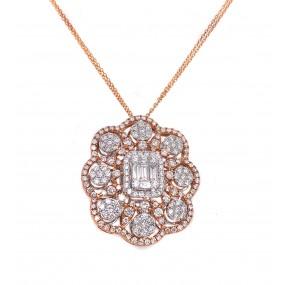 18kt Rose And White Gold Diamond Pendant