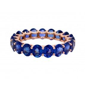 18kt Rose Gold Sapphire Eternity Band