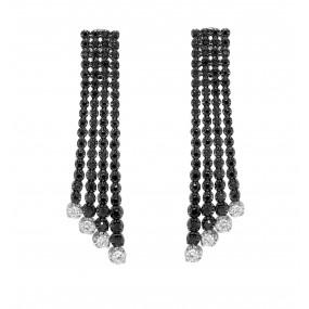 18kt Black Gold And Diamond Earrings