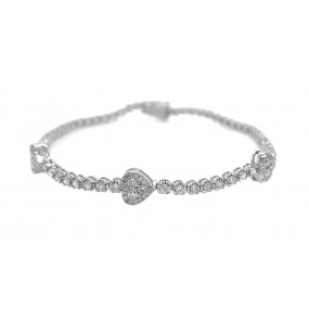 18kt White Gold Diamond Bracelet