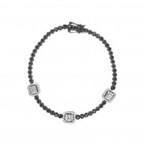 18kt Black And White Gold Diamond Bracelet