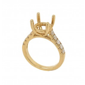 18kt Yellow Gold Diamond Semi-mount
