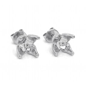 18kt White Gold Earring Jackets