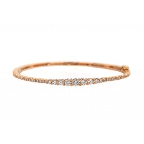 18kt Rose Gold Diamond Bangle