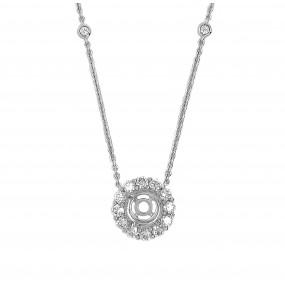18kt White Gold Diamond Pendant Mounting