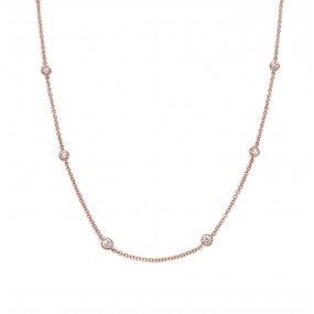 18kt Rose Gold Diamond-by-the-inch Necklace