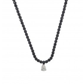 18kt Black Gold And Diamond Necklace