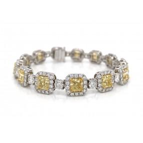 18kt White Gold Yellow Diamond Bracelet
