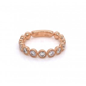 14kt Rose Gold Diamond Band