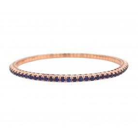 18kt Rose Gold Sapphire Bangle