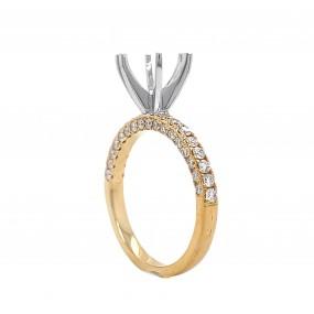 18kt White And Yellow Gold Diamond Semi-mount