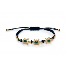 18kt Yellow Gold Diamond And Emerald Bracelet