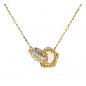 18kt Yellow and White Gold Diamond Pendant