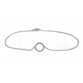 14kt White Gold Diamond Bracelet