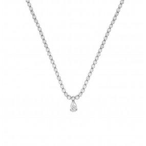 18kt White Gold Diamond Necklace