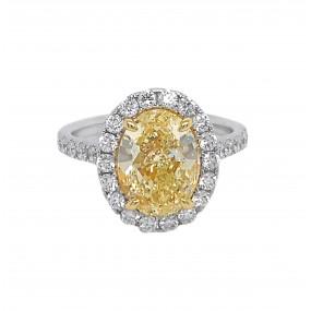 18kt White Gold Yellow Diamond Ring