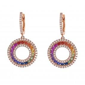 18kt Rose Gold Diamond Earrings