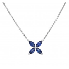 18kt White Gold Sapphire Pendant