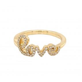 18kt Yellow Gold Diamond Ring