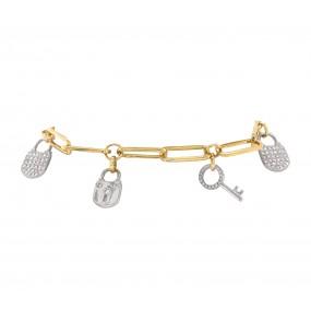 18kt Yellow And White Gold Diamond Bracelet