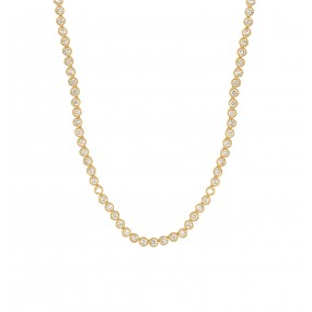 18kt Yellow Gold Diamond Necklace