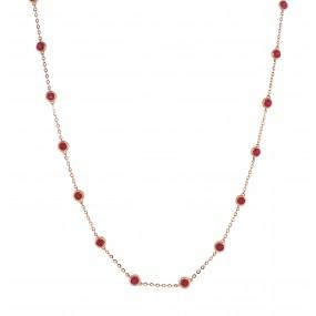 18kt Rose Gold Ruby Necklace