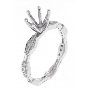 18kt White Gold Diamond Eternity Semi Mount