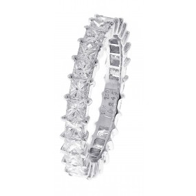 18kt White Gold Eternity Band