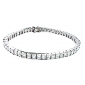 18kt White Gold Diamond Tennis Bracelet