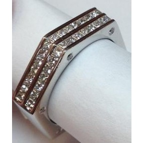 18kt White Gold Diamond Men's Band