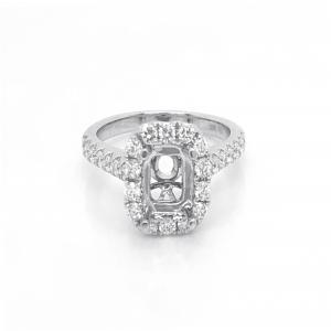 18kt White Gold And Diamond Semi-mount